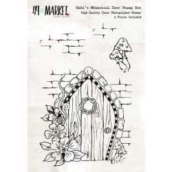 "49 & Market Clear Stamps 4""X6"" - Gabi's Whimsical Door"